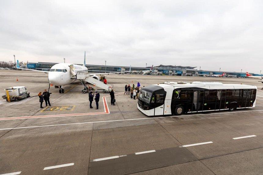 В аэропорту «Борисполь» показали первый в мире автобус МАЗ 271