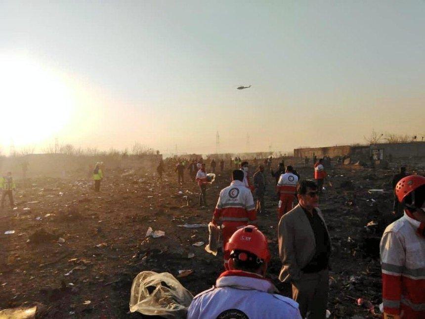 Иран опубликовал предварительный отчет о крушении самолета МАУ