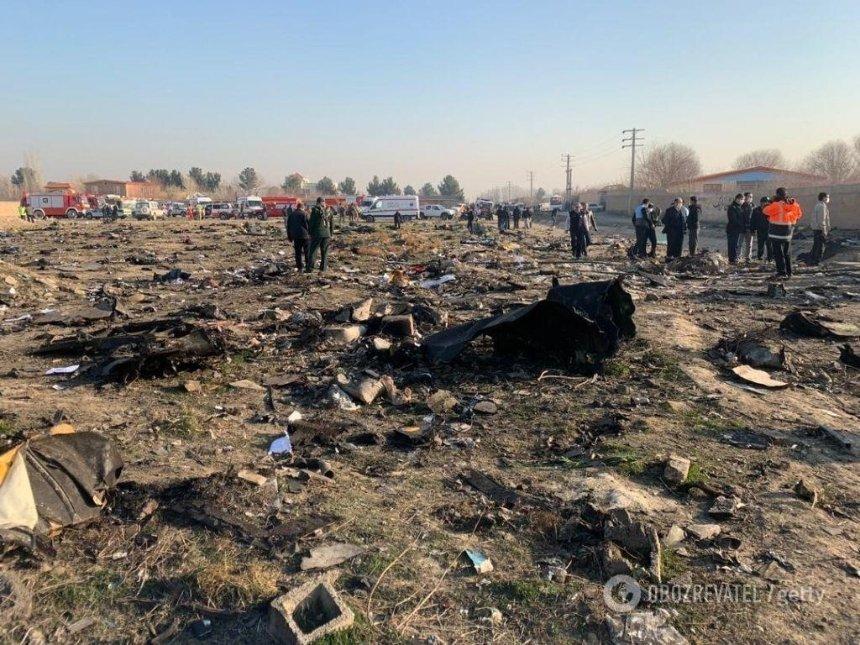 Крушение самолета в Иране: МАУ опубликовала список погибших