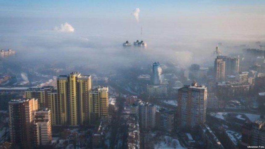 Над Киевом снова повисло облако угарного газа