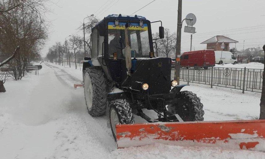 За уборкой снега в столице можно следить онлайн