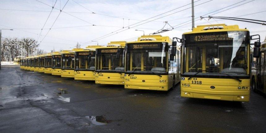 Намаршруты общественного транспорта вКиеве выведут 15новых троллейбусов