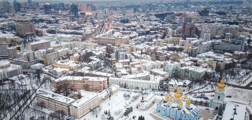 Как выглядит заснеженная столица с высоты птичьего полета: захватывающие фото