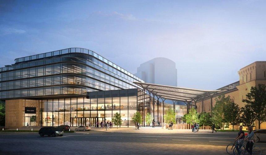 Стеклянный навес иновый офисный центр: как будет выглядеть обновленная Арсенальная площадь
