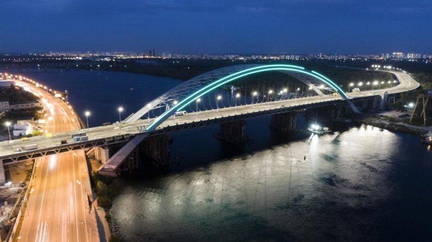 На Подольском мосту временно отключат подсветку: причина