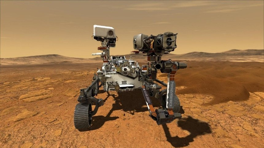 Марсоход Perseverance удачно сел на Красной планете