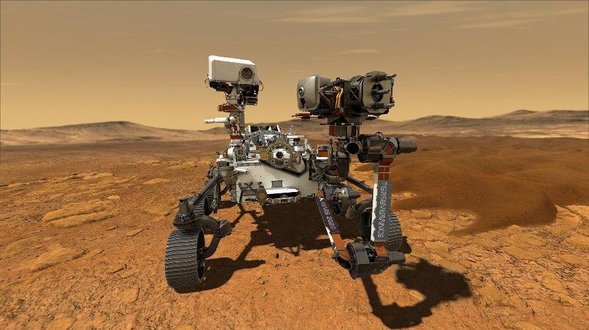 NASA опубликовало цветные фото Марса с аппарата Perseverance