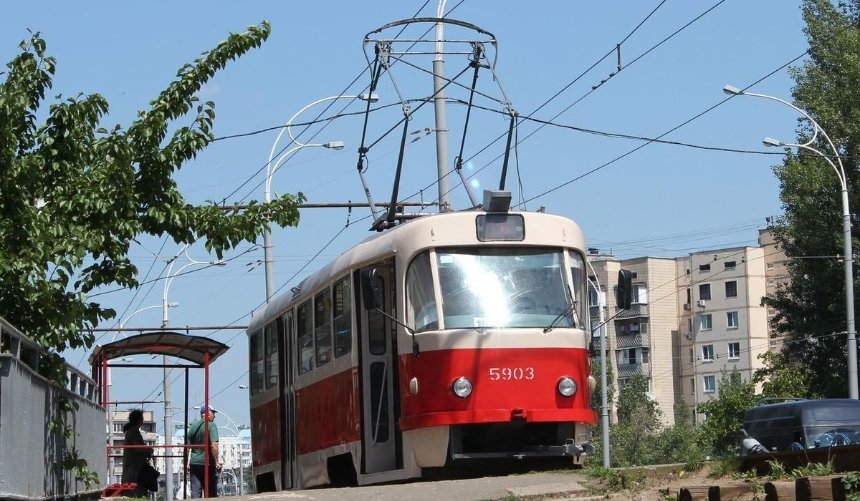 Из-за ремонта подземного перехода наОболони движение трамвая №16закроют надва месяца