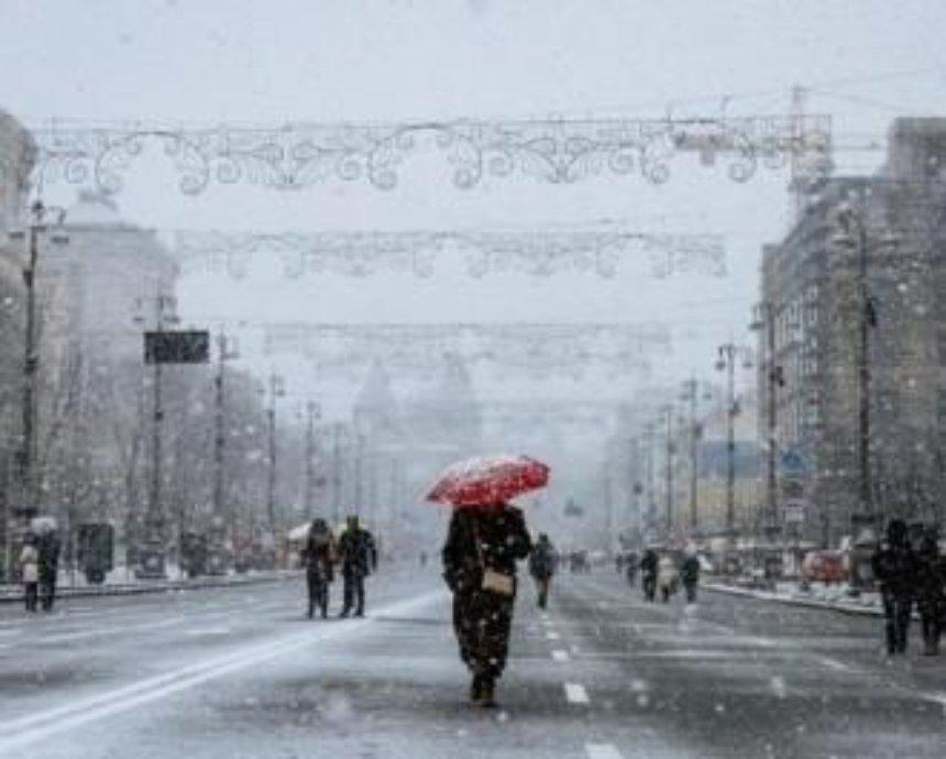 В Киеве ожидается снег и гололед
