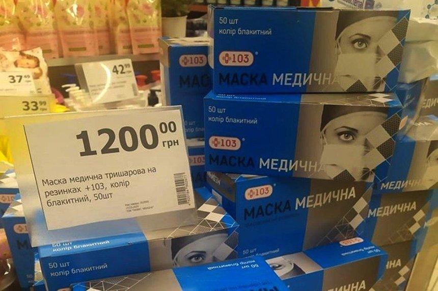 Цены на медицинские маски в Киеве выросли в десятки раз