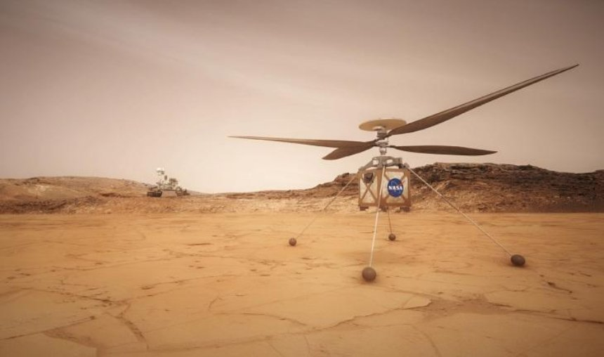 NASA впервые запустит на Марсе вертолет