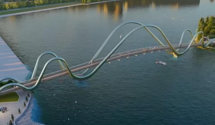Срок сдачи нового пешеходного моста наОболонский остров снова перенесли