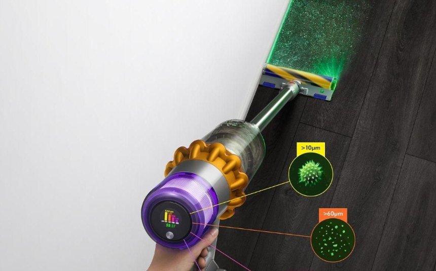 Выпустили пылесос, который подсвечивает пыль лазером