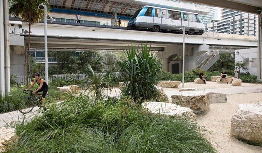 В Майами открыли парк под линией метрополитена: как онвыглядит