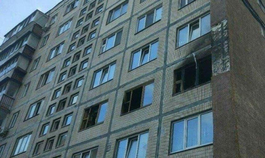 В Києві на Печерську згоріла квартира (фото)