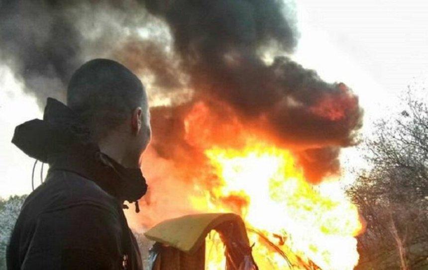 В полиции прокомментировали поджог лагеря ромов на Лысой горе