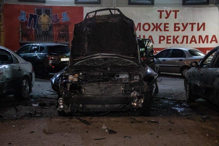 Вибух авто в Києві: підозрюваний у замаху на співробітника спецслужби помер у лікарні (відео)
