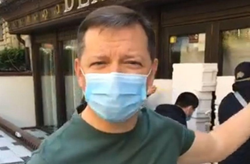 «Карантин, так карантин»: Олег Ляшко «замуровал» ресторан Тищенко