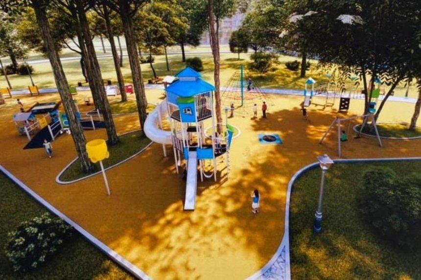 В Мариинском парке построят инклюзивную площадку для детей: как она может выглядеть