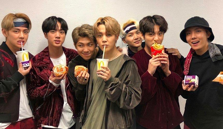 ВMcDonald's появится меню слюбимыми блюдами группы BTS