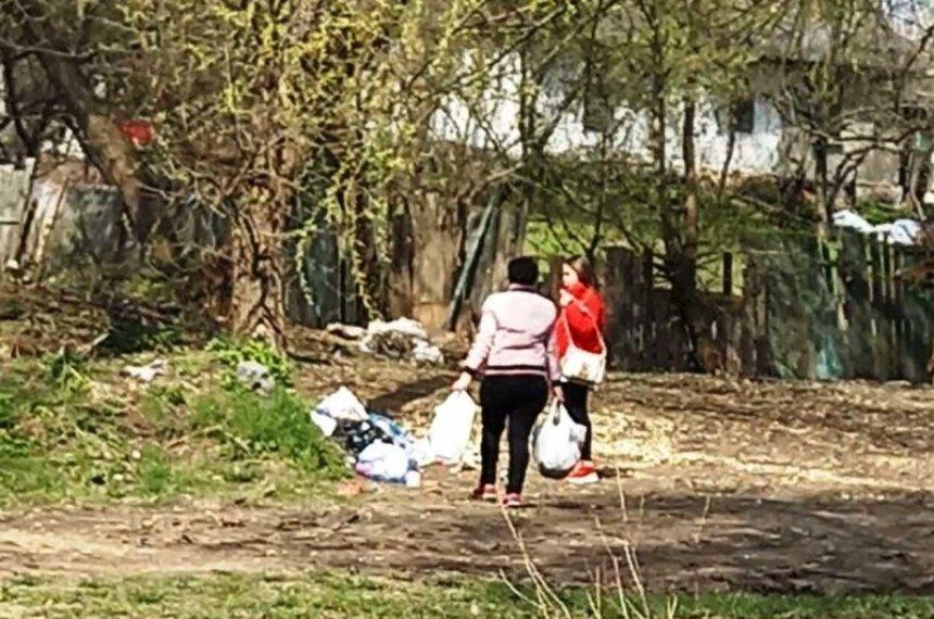 Фото с камер видеонаблюдения«Киевзеленстроя»