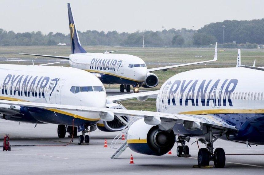Ryanair увеличит число рейсов из Киева по 4 маршрутам