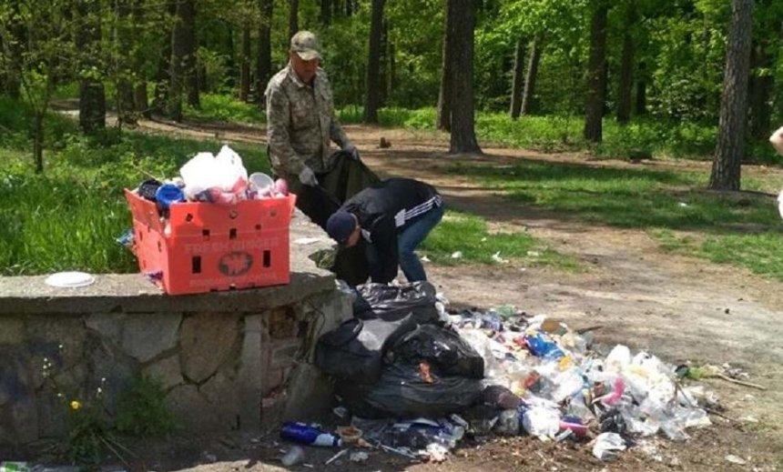 Лес на Виноградаре очистили от мусора