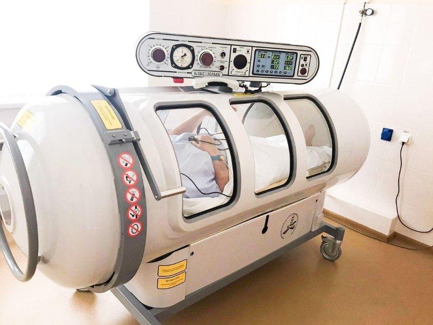 В Александровской больнице для борьбы с COVID-19 используют барокамеру