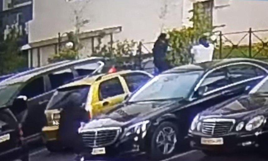 В МВД показали видео покушения на главу наркокартеля в центре Киева