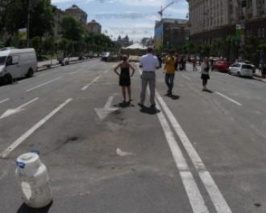 В ГАИ Киева высказались против пешеходного Крещатика