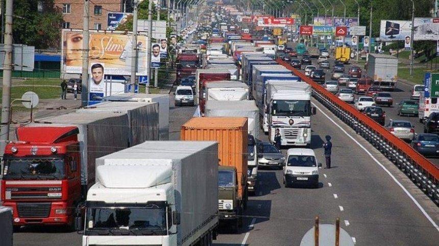 ГАИ ограничила въезд грузовиков в Киев в дневное время