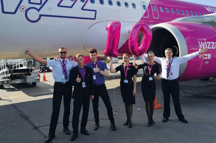 Wizz Air запускає чотири нових рейси з України