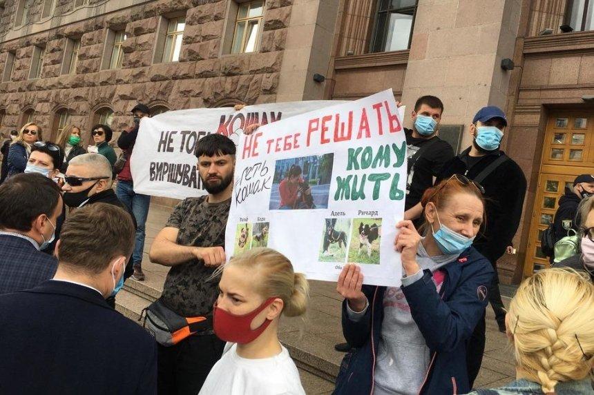 Зоозащитники пришли под КГГА с требованием уволить и.о. директора столичной ветклиники