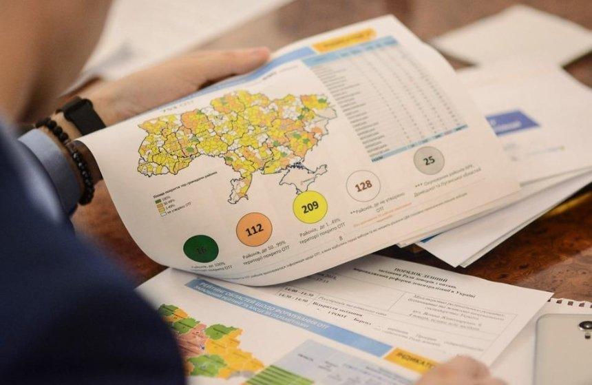 Кабмин переделил районы в Украине: вместо 490 теперь 129