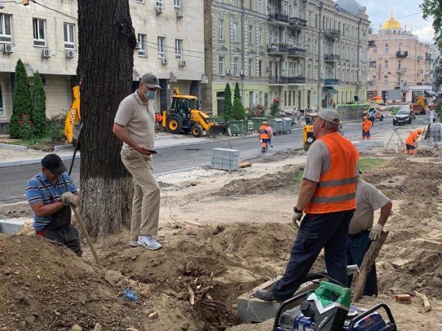 В центре Киева обновляют историческую улицу Ивана Франко: что там будет