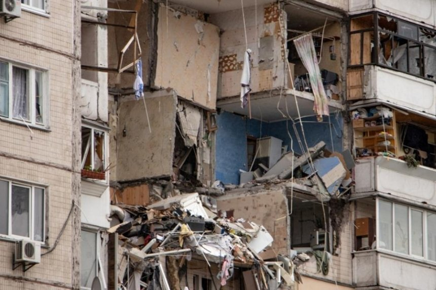 Момент взрыва в доме на проспекте Григоренко попал на видео