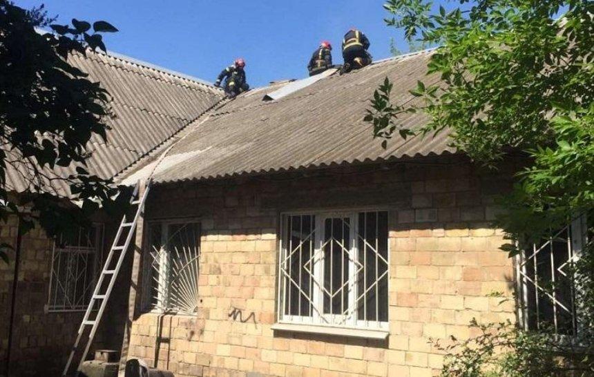 В Соломенском районе горел нотариальный госархив