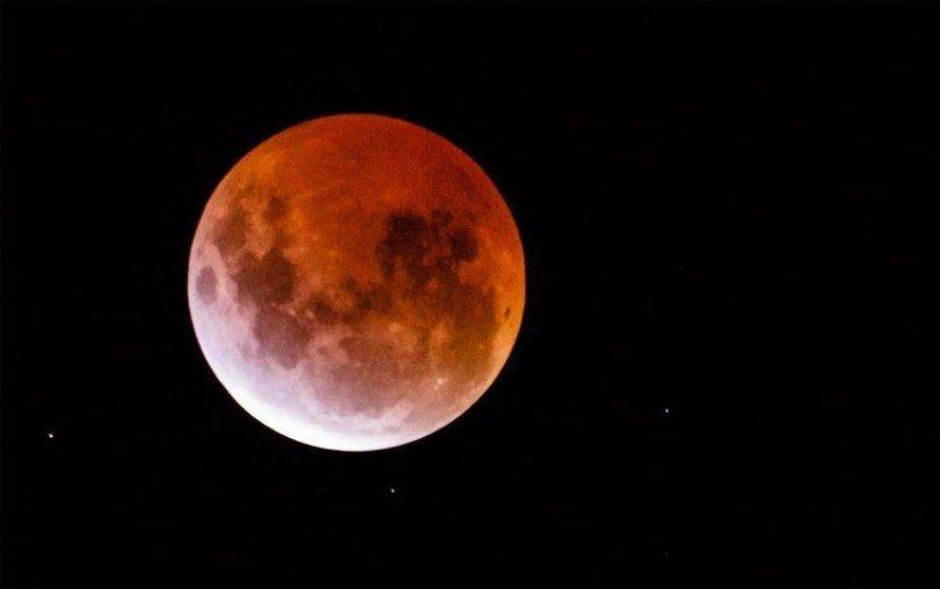 Сегодня киевляне смогут увидеть «кровавую» Луну (видео)