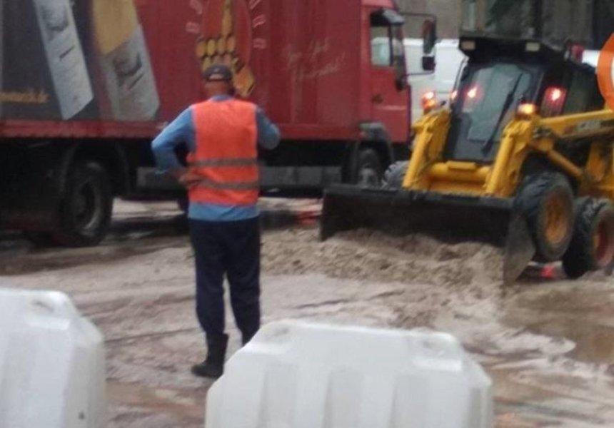 В Подольском районе из-за ливня обвалился путепровод (фото) (обновлено)
