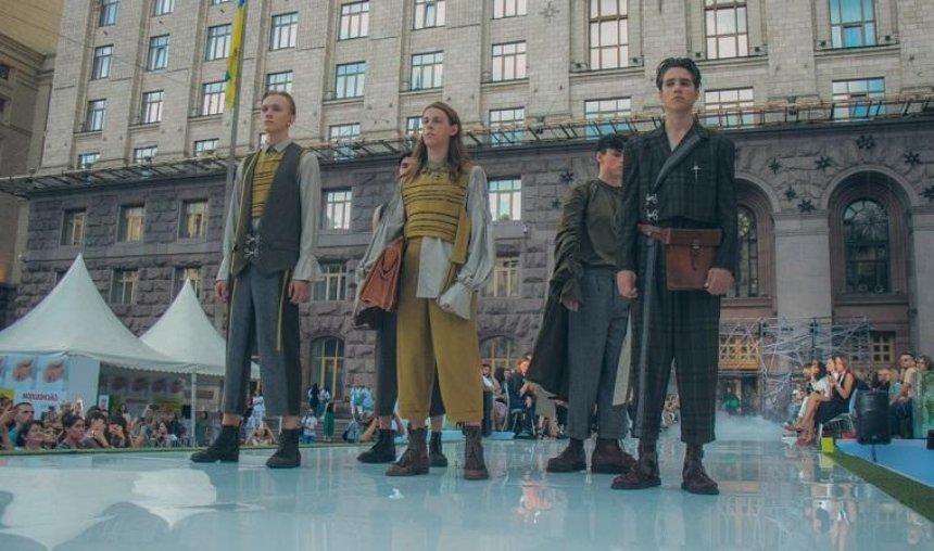 В выходные Крещатик превратили в модный подиум (фото, видео)