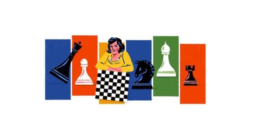 Google посвятил свой дудл известной украинской шахматистке