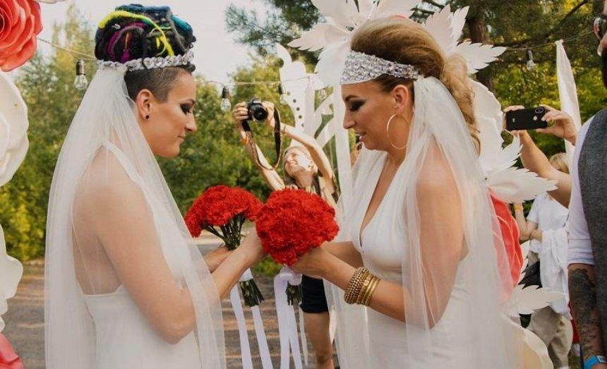 В столице впервые состоялась однополая свадьба (фото, видео)