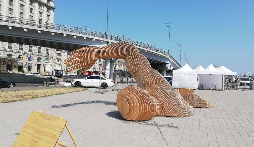 Скульптура Burning Man «переехала» наПочтовую площадь