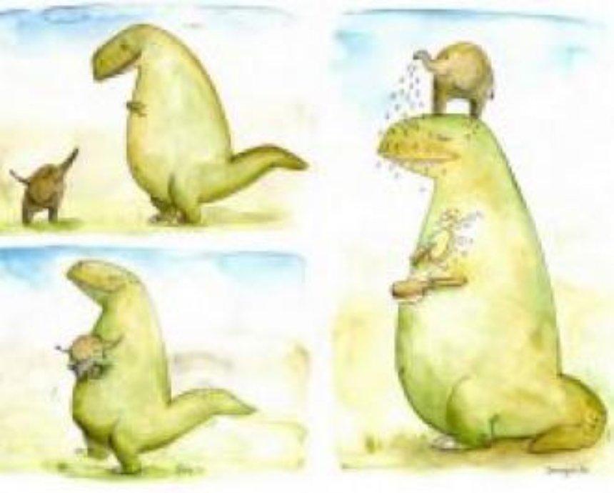 Киевлянам предлагают обнять динозавра