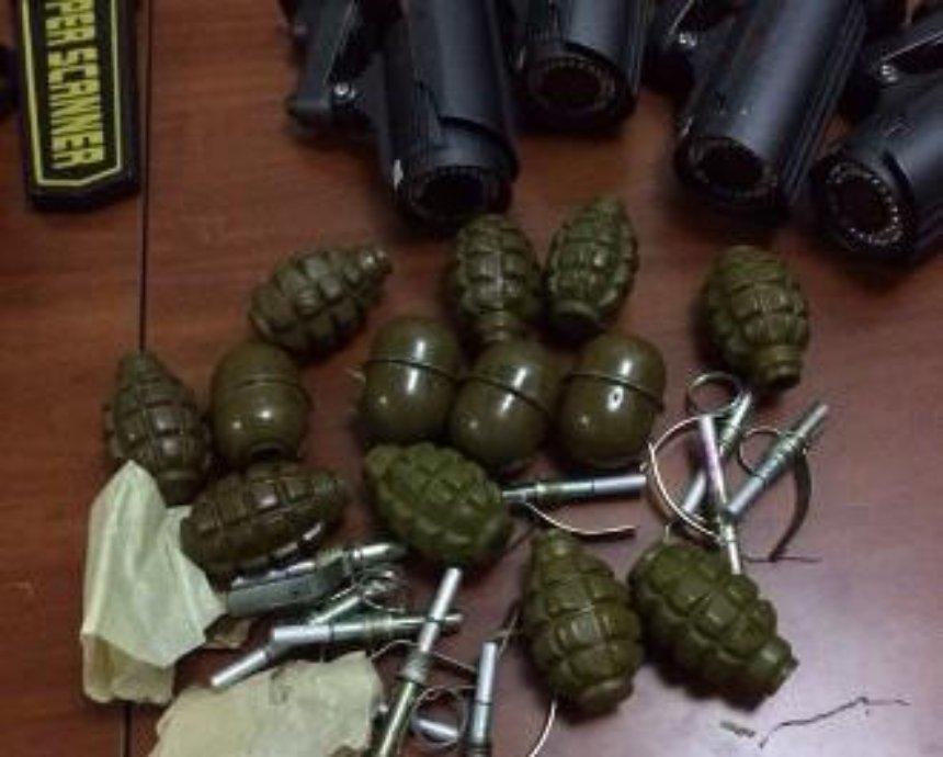 В центре Киева нашли арсенал оружия (фото)