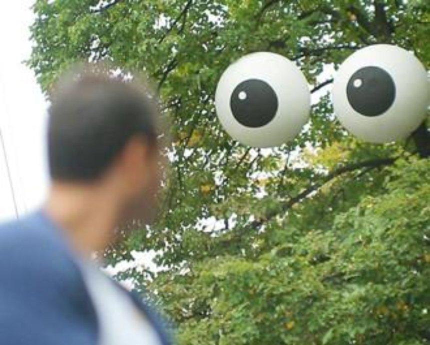 На проспекте Победы появились гигантские глаза