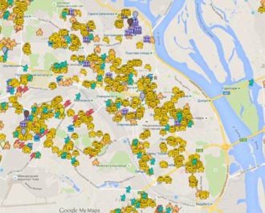 В Киеве появилась интерактивная карта ремонтов