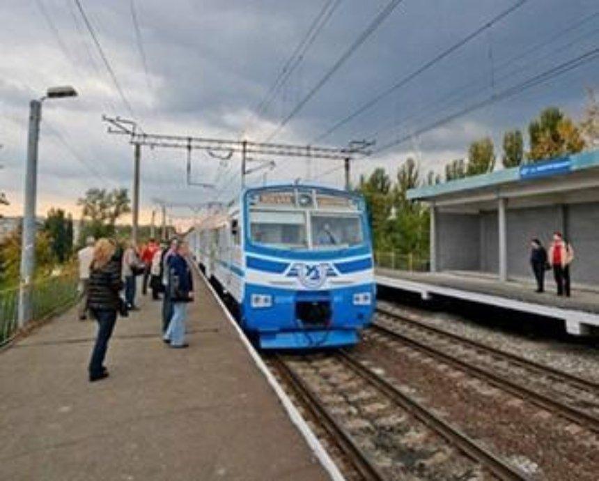 Киевская электричка вернулась с обычному маршруту курсирования