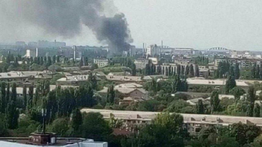 В Святошинском районе произошел крупный пожар (фото)