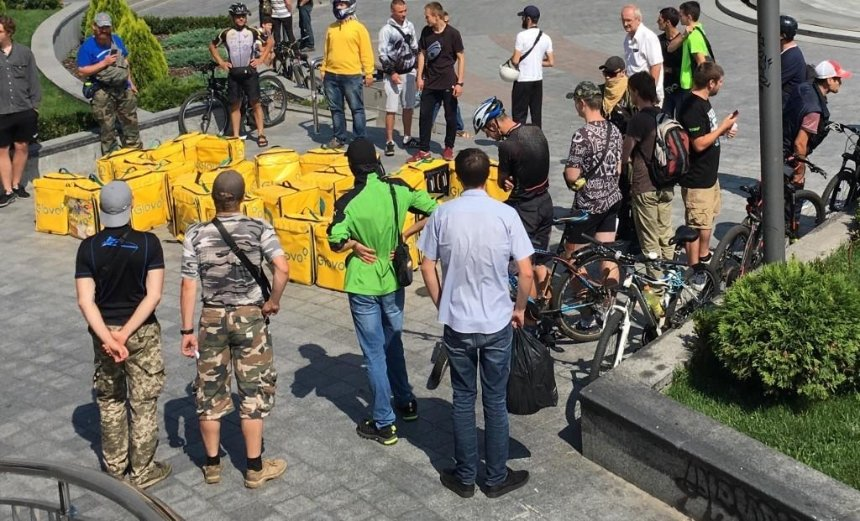 Чому в Києві протестують кур'єри Glovo